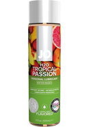 Jo H2o Flavor Lube Tropical Passion 4oz